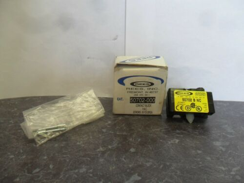New Rees 50703-000 Contact Block Switch 50703NO-NC .20 to close .10 to open NIB