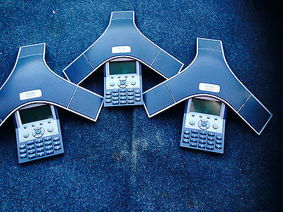 Lot Of 3 Cisco Cp-7937g 7937 Conference Voip Ip Phone Station