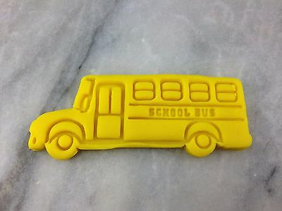 School Bus Cookie Cutter 2-Piece, Outline & Stamp. Back to School School Bus Cookie Cutter
