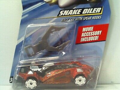 2007 HOT WHEELS SPEED RACER - SNAKE OILER RACE CAR W/ SPEAR HOOKS - 1:64 DIECAST (Snake Oiler Race Car)