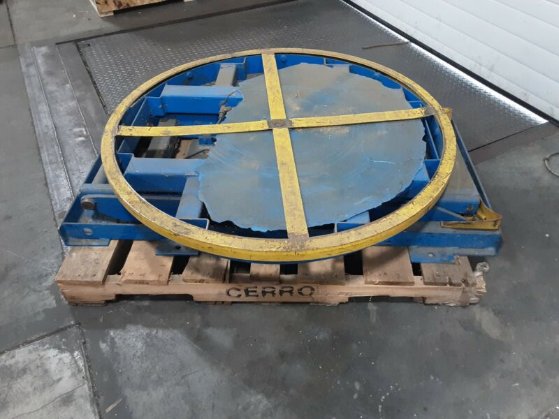 Pneumatic Lifting Table Pallet Carousel Positioner #598taw