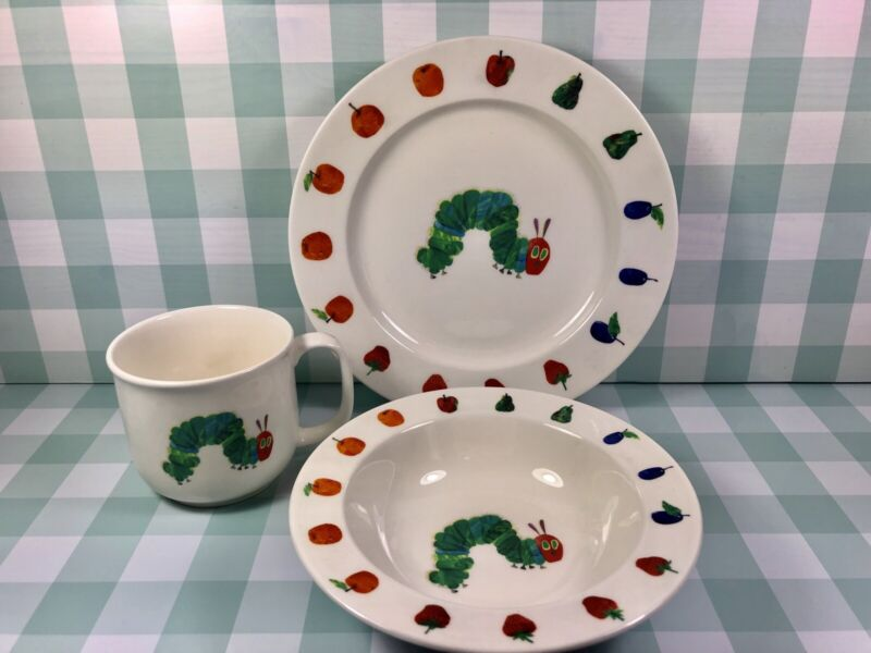 The Hungry Caterpillar Children's Book,  Dish Set By Lunt China.