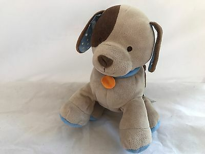 Toys Babies r us baby plush brown puppy dog orange tag Polka dot ears Clean EUC