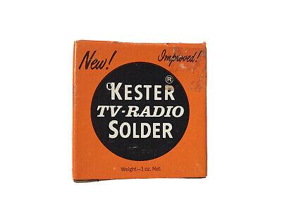 Vintage Kester Tv - Radio Solder Resin-five Flux Core