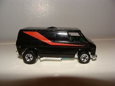 Vintage 1984 Hot Wheels Mr. T A-Team Super Van 1/64 Black with Red Stripe