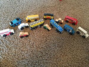 Collection of Wooden Cars & Trains