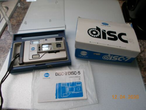 Vintage Minolta Disc Camera Disc-7 with Owner