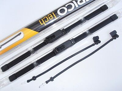 TVR TUSCAN Trico Flat Wiper Blades + 4way Washer Jets Kit Great Upgrade 21