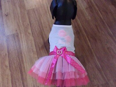 """dog party tutu dress,lips""""Kiss Me"""" XL for small breeds(**read details for size)"""