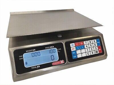 Tor-rey Lpc-40l 40lb Portable Digital Computing Scale Ntep Legal For Trade