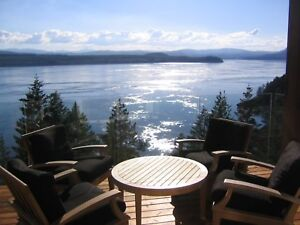 Oceanfront Luxury Home Quadra Island (Campbell River) fully furn