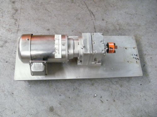 Sterling Electric Stainless Motor Xh0014pca 1 Hp W/ Gear Reducer Sanitary
