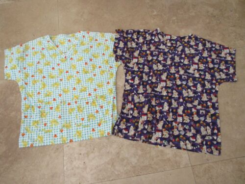 Lot, 2 womens size L,large scrubs, homemade