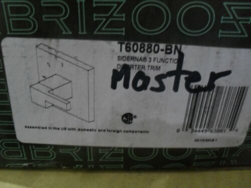 Brizo T60880-BN Siderna 3 Function diverter valve trim Brushed Nickel