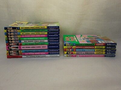 Lot Of 16 Archie B V Friends Comics Double Digest Betty   Veronica