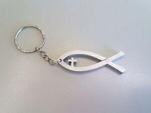 Pesce-Cristiano-Ichthys-Christian-fish-keychain-Portachiavi-in-alluminio