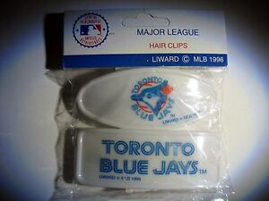 2-Rare-Toronto-Blue-Jays-Baseball-Vintage-MLB-1996-Hair-clips-barretts-Licensed