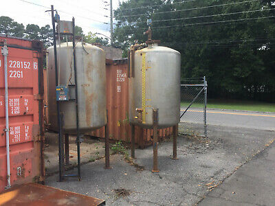 Stainless Steel Tank Approx. 475 Gallon Capacity Good Condition Total Of 2