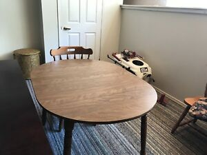 Teak framed couches ,dining room tables. , tv-stereo stand