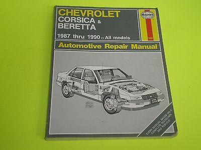1987-1990 CHEVROLET CORSICA & BERETTA HAYNES SHOP REPAIR MANUAL 12 PICTURES
