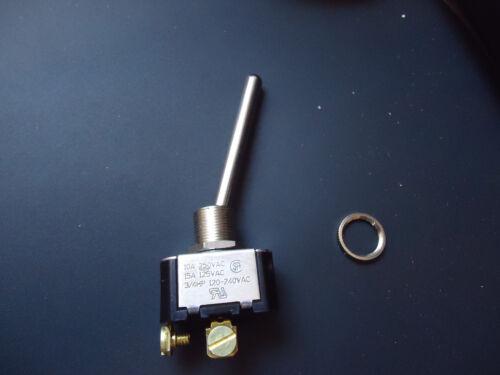 """Carling 2FA54-E3 Toggle Switch S.P.S.T 10A-250VAC, 15A-125VAC, 3/4HP 2"""" Actuator"""