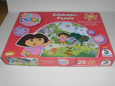Puzzle Dora Nick. JR, 25 Teile 3+ incl. Lernheft (Edukativ = Lern-Puzzle)