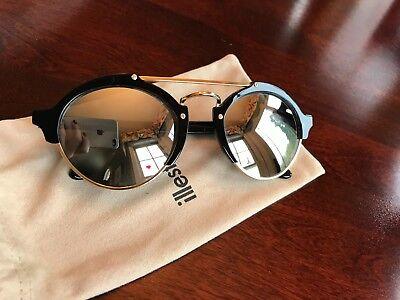 Illesteva Milan II Black/Gold Sunglasses