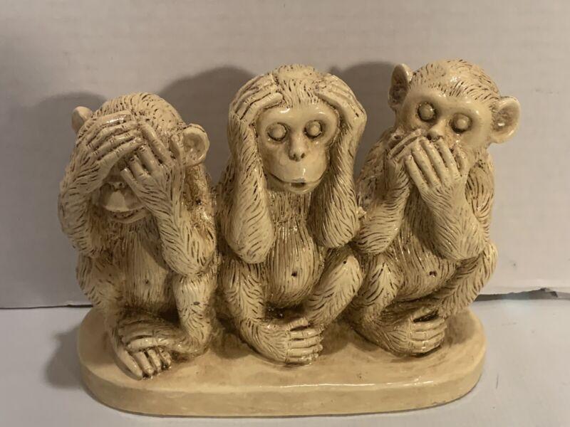 """Formalities By Baum Bros. Figure Three Wise Monkeys """"See, Hear, Speak No Evil"""""""