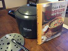 Hawkins Futura Hard Anodised Pressure Cooker, 7 Litre, plus book Belrose Warringah Area Preview