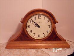 Howard Miller  Quartz Mantel Clock 630-122 Dual Chime Oak USA