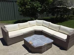 Wicker Rattan Luxury Garden Corner Set Indoor Outdoor Sofa Lounge Roselands Canterbury Area Preview