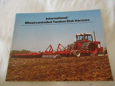 Ih International 350 370 475 480 485 490 501 596 Tandem Disk Harrow Brochure