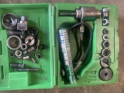 Greenlee 7306sb Hydraulic Knockout Knock Out Punch Driver Set 12 - 2 Whi Extr