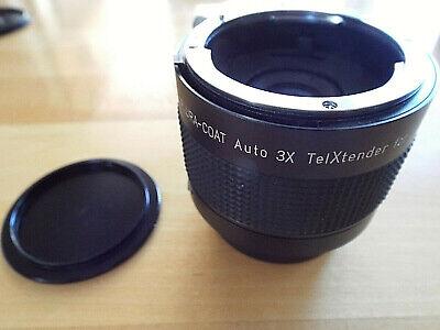 SPIRATONE Plura-Coat Auto 3X TelXtender, Excellent for SLR Cameras, (Lens Discounter)