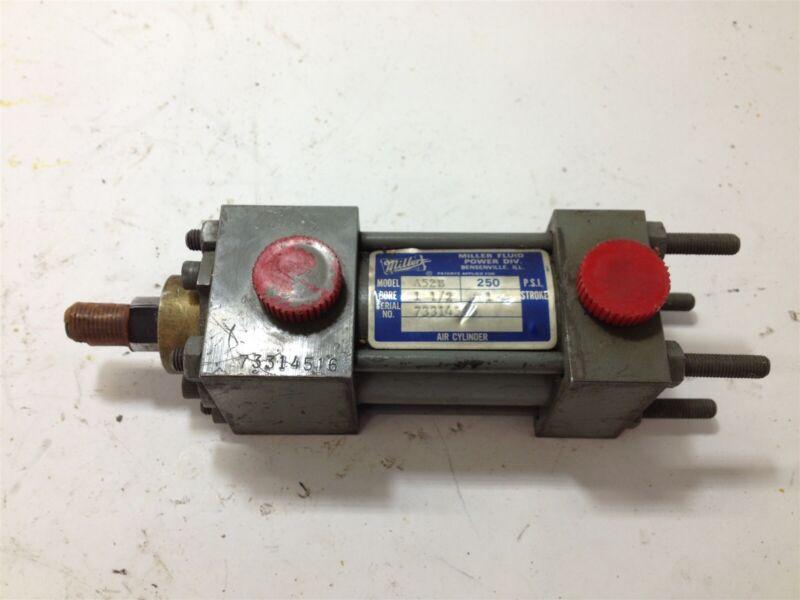 "Miller A52B Pneumatic Cylinder 250 Psi, 1 1/2"" Bore, 1"" Stroke"