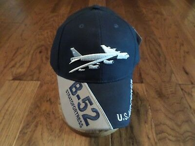 Bomber Cap Hat (AIR FORCE B-52 BOMBER STRATOFORTRESS HAT EMBROIDERED U.S MILITARY BALL CAP)