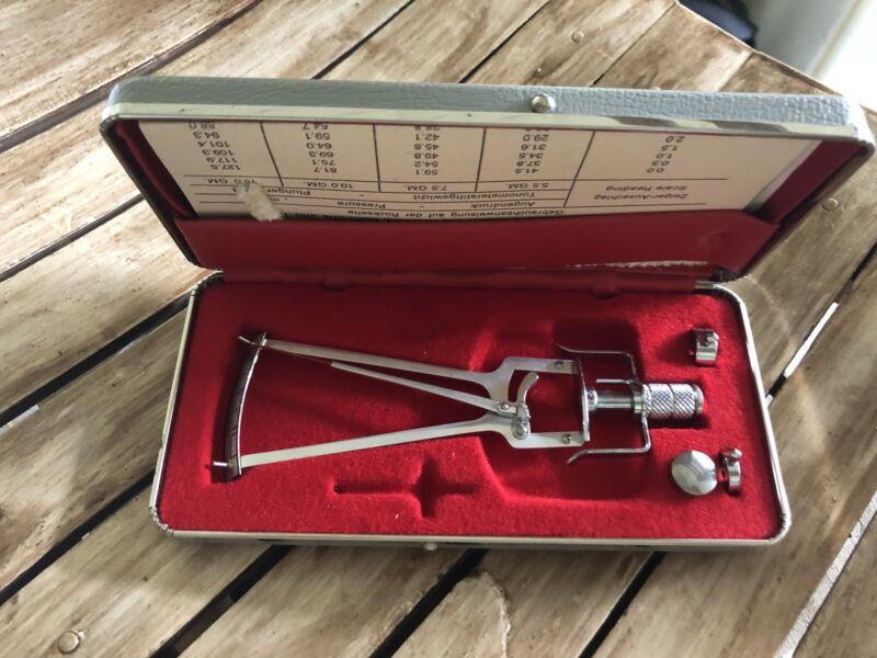 Vintage Miltex Schioetz Tonometer With Case & Instruction.