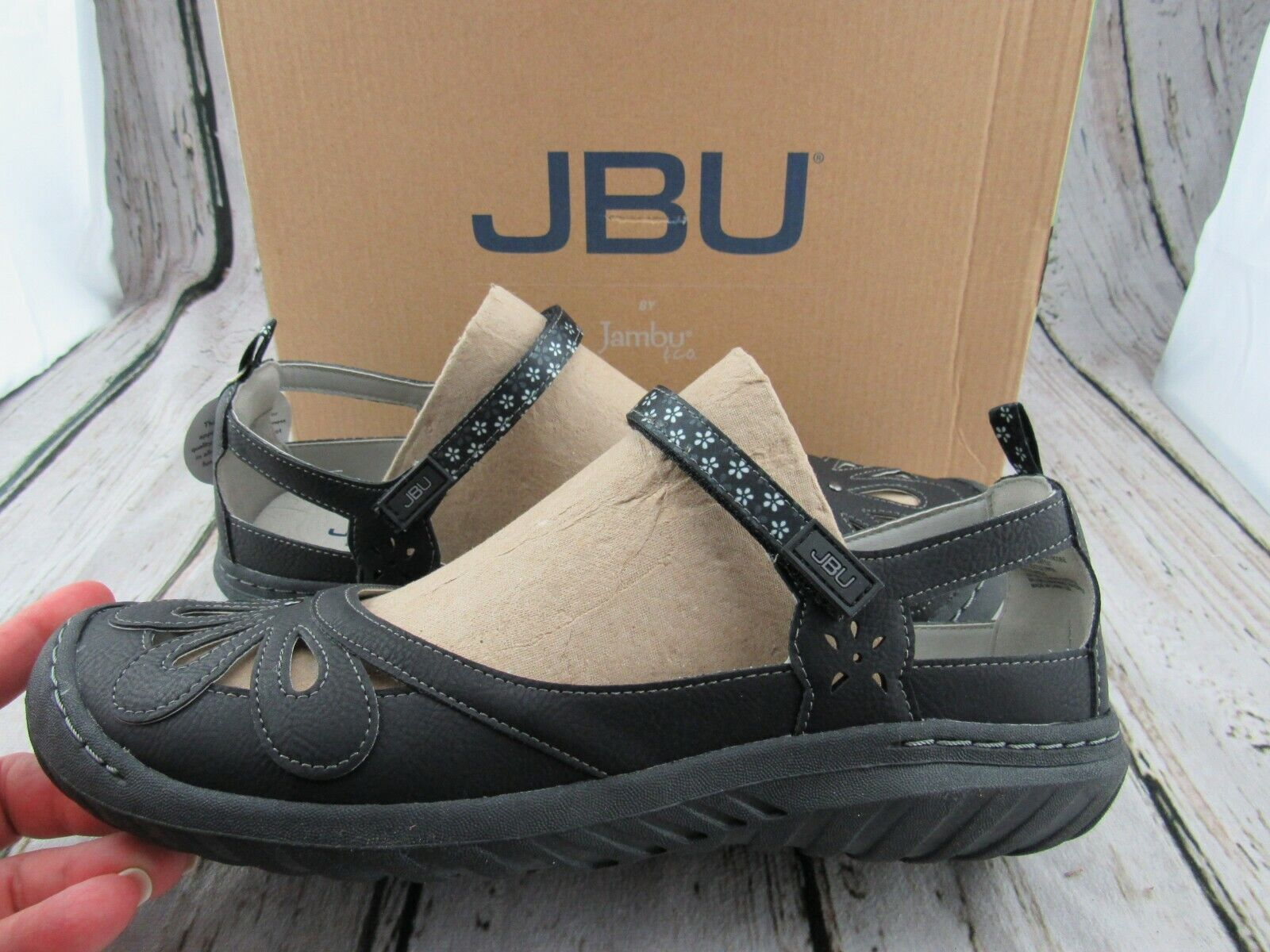 New ~ JBU by Jambu Women's Wildflower Encore Black Mary Jane