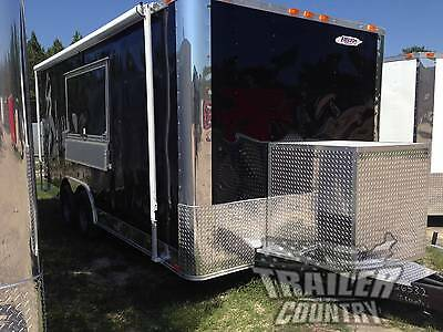 New 8.5 X 18 18 Enclosed Concession Food Vending Bbq Mobile Kitchen Trailer