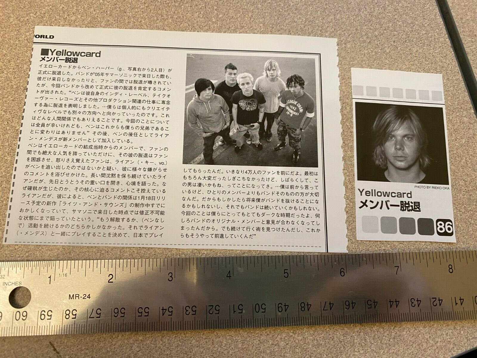 Yellowcard Rock Band Magazine Clipping Cutting Photos From Japan - $5.00