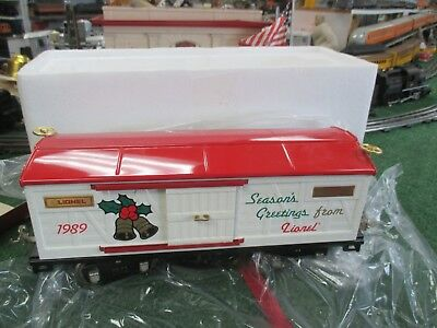 LIONEL CLASSICS 13601 STANDARD GAUGE 1989 CHRISTMAS BOX CAR NEW IN BOX SHARP