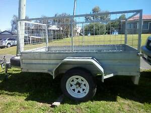 galvanised 8x5 caged trailer. Inverell Inverell Area Preview