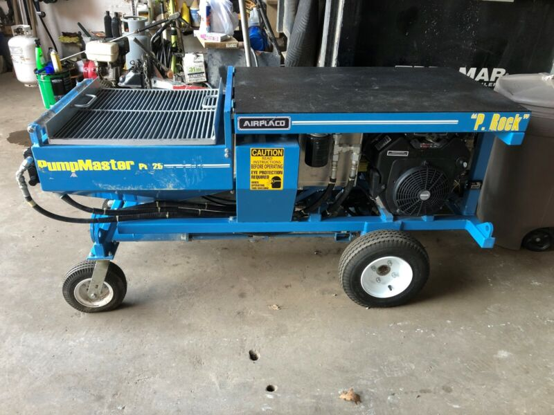 AIRPLACO PUMPMASTER PG-25 Self propelled Concrete Lifting Slabjacking Grout Pump