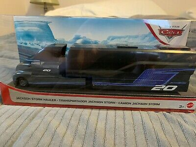 LOT 2 JACKSON STORM HAULER & New SILVER Jackson Storm Car, Disney Pixar Cars 3