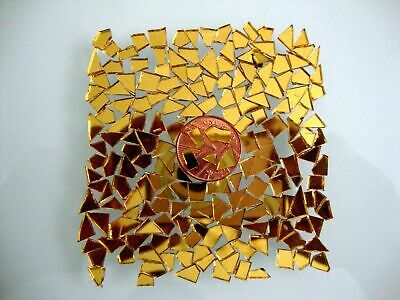 200 pcs Mosaic Gold Mirror Tiny pieces, BEST FOR CRACKLE