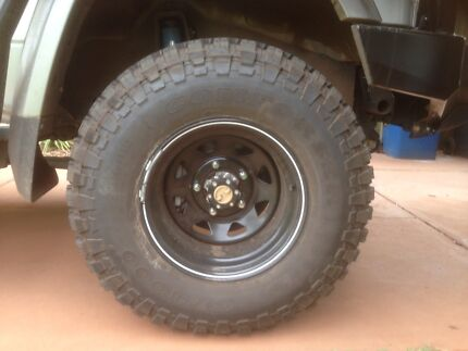 **Brand new** 305/70R16 Mud terrain tyres and rims