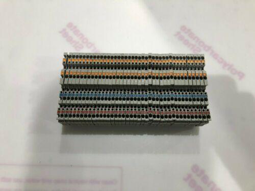 40 used Phoenix contact PTIO 1,5/S/3 terminal block 3244410 300volt spring
