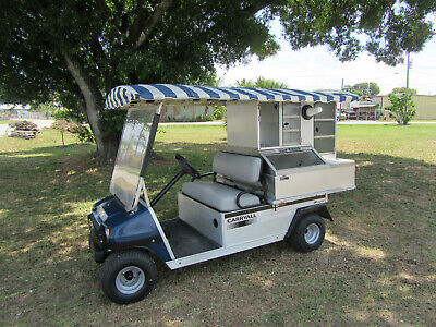 2014 Club Car Caf Express Beverage Food Type Golf Cart Bar Set Up Gas Engine