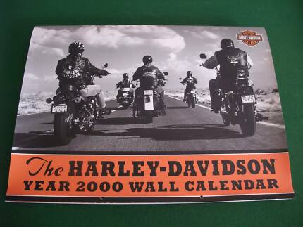 HARLEY DAVIDSON CALENDAR and POSTER Year 2000
