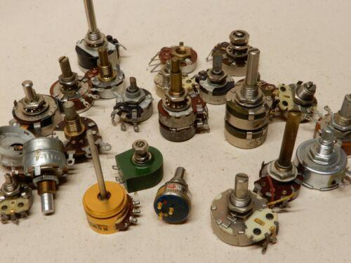 Huge Lot of Various Makes Potentiometers Type 750 DeJur